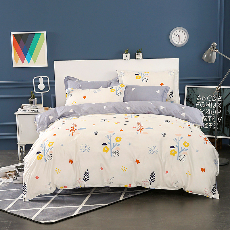Image 4 - Wongsbedding 100% Cotton Tree Duvet Cover Sets Plant Bedding Set Twin Full Queen King Size 3/4PCS Sheet Beddings-in Bedding Sets from Home & Garden