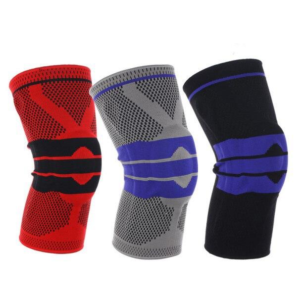 Rodilleras acolchadas de silicona con soporte para rodilleras, Protector de rótula menisco para deportes, protección de seguridad, rodillera de voleibol