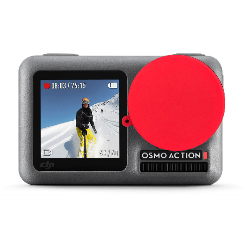 soft silicone cap lens cover  Protective cover for dji osmo action camera Accessories Red black blue green
