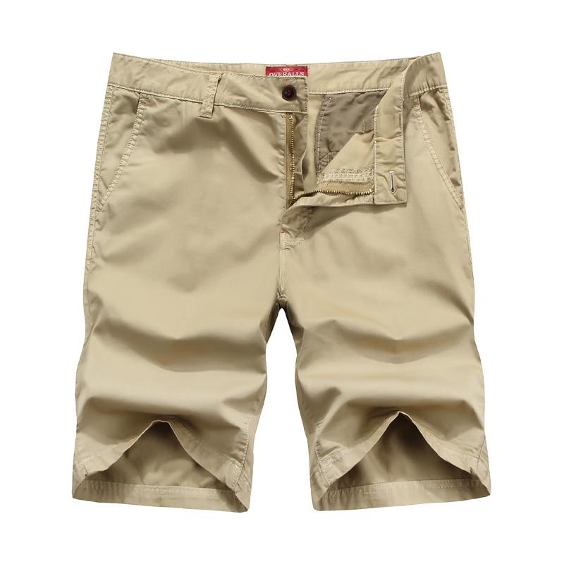 Men Casual Shorts Summer Cargo Pant Business Pantalones Straight Fit Bermuda Hombre Men Solid Short Pants Mens Outwear Trousers