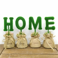 Искусственные растения в горшках искусственные зеленые растения набор для домашнего декора искусственные