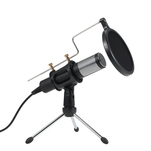Image 2 - Professional Condenser Microphone MikrofonStudio Recording Mic Microphones with Mini MIC Stand for iPhone Laptop PC Tablet