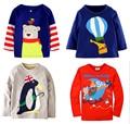 MARCA minorista libres shipping2016 nuevo algodón top de manga larga t-shirt para niños bebés niños chothing manga completa primavera otoño