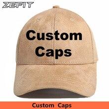 Gorras de béisbol con diseño personalizado para hombre y mujer, gorro de béisbol con diseño personalizado de gamuza de cuero PU, bordado gratis, Logo impreso, unisex