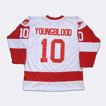 Hockey Jersey Custom 10 Youngblood Men Stitched Movie Throwback Hoceky Jersey S-3XL Free Shipping Viva Villa(China)