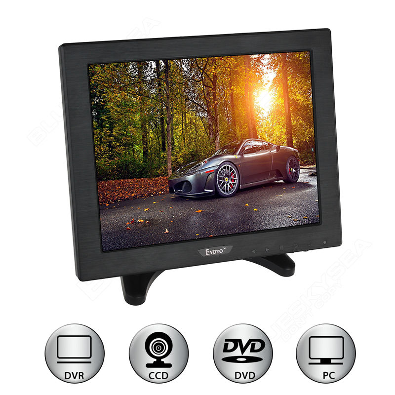 Free shipping!Eyoyo ZXD 10 inch LCD Color HDMI BNC Monitor Screen Video for PC CCTV DVR Camera Security escam t10 10 inch tft lcd remote color video monitor screen with vga hdmi av bnc usb for pc cctv home security system camera