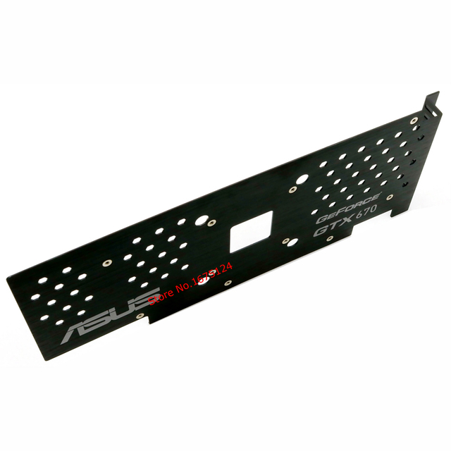US $29 99 |computer metal protector pad board behind VGA card backplate for  ASUS GTX670 gtx 670 graphics card protection-in Fans & Cooling from