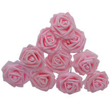 10 Heads 8CM Pretty Charming Artificial PE Foam Rose Flowers Bride Bouquet Home Wedding Decor Scrapbooking DIY Supplies