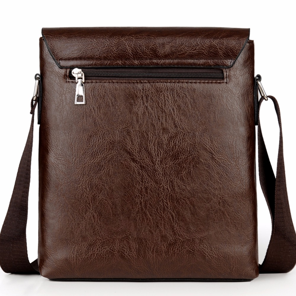 Crossbody Bags For Men PU Leather Shoulder Bag Male Casual Simple Knitting Messenger Bags Men's High Quality Business Hand Bag 3