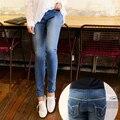 Calças de Brim da gravidez Maternidade Calças Jeans Wear Mulher Grife De Jeans Mulheres mulheres Leggings Jeans Cintura Plus Size Calças Jeans-Para-grávida
