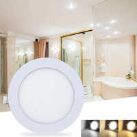 24W Round LED Panel Light Recessed Kitchen Bathroom Ceiling Lamp Modern Indoor Lighting 3 Colours LED Downlight