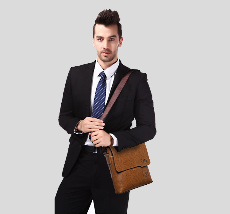 Men Tote Bags Set JEEP BULUO Famous Brand New Fashion Man Leather Messenger Bag Male Cross Body Shoulder Business Bags For Men 5