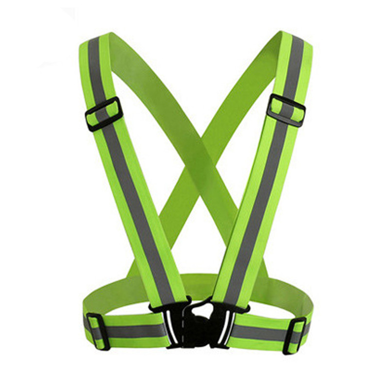 Cycling Bicycle LED Wireless Safety Vest Visibility Neon Vest Reflective Belt Safety Vest Fit for Running Cycling Sports 30LY08 (7)