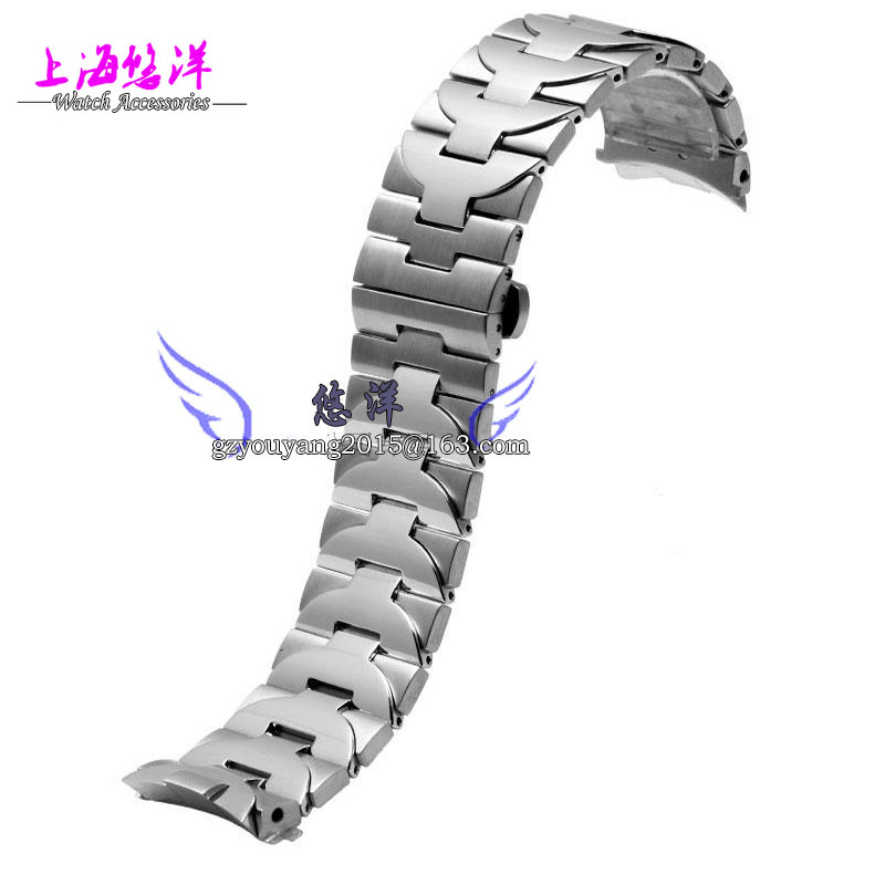 316 L Stainless Steel Adjustable Link Bracelet 24mm Watchband Watch Strap Band with double push Lock