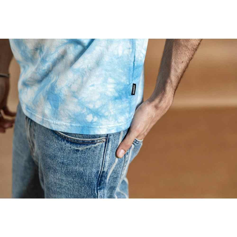 SIMWOOD 2019 verano nuevo tie-dyed camiseta hombres 100% algodón moda top alta calidad Camiseta talla grande ropa de marca 190364