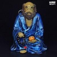 Shiwan Doll Master For Seiko Art Deco Ceramic Figure Damour Zen Patriarch Feng Shui Ornaments