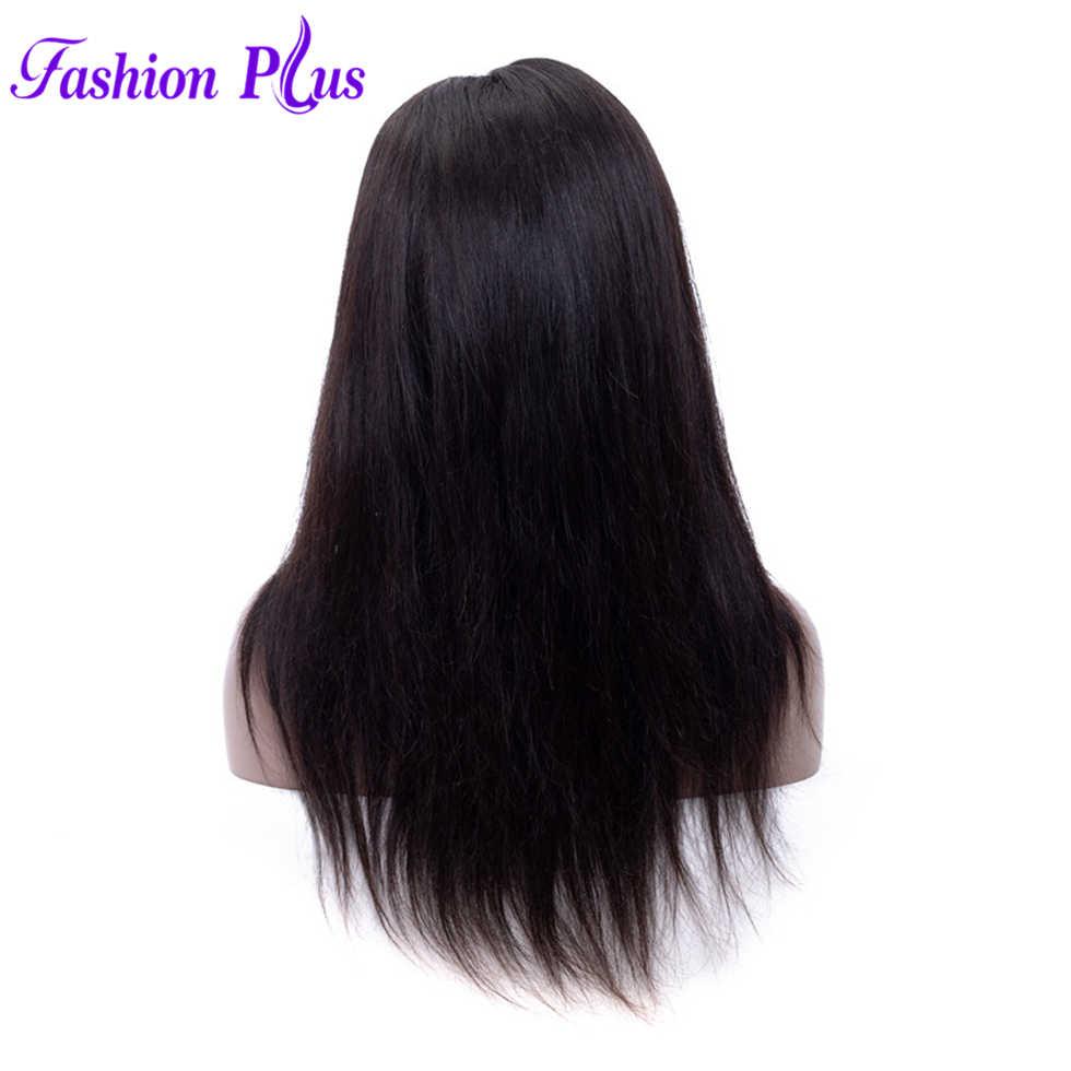"Pelucas de pelo humano de encaje completo recto de moda Plus parte libre pelucas de pelo Remy brasileñas 8 ""-24"" Pre desplumado rayita Natural"