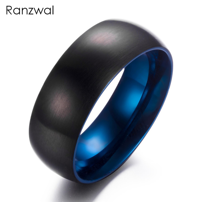 Ranzwal 8mm Tungsten Steel Rings for Men Black Carbide Ring Women Jewelry US SIZE 7~12 M ...