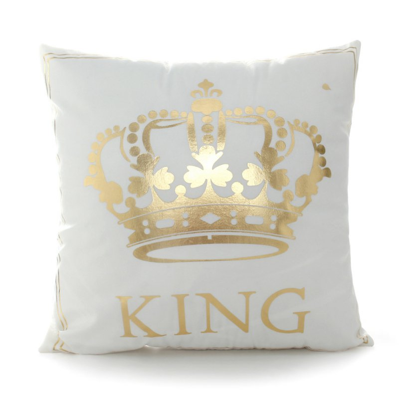 Bronzing Cushion Covers King Queen Lettermoon Lips Cute