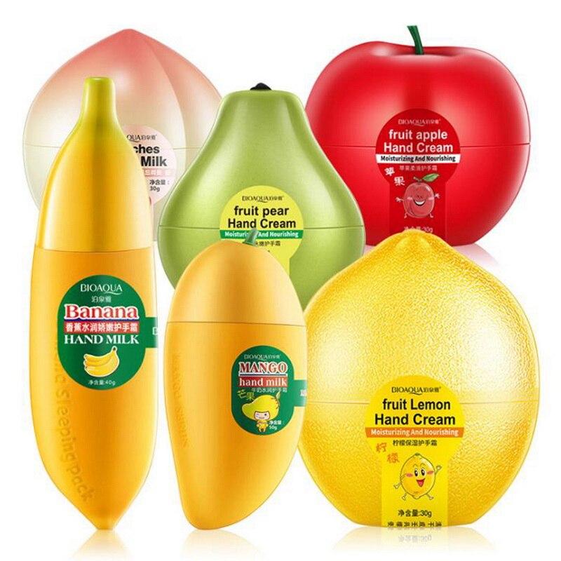 BIOAQUA Fruit Hand Cream Apple/Banana//Lmenon Anti-aging Moisturizing Nourishing Hydrating Hand Cream For Winter Hand Care