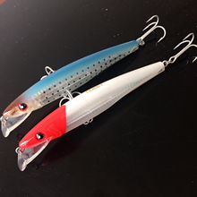 Noeby 1pc Artificial Bait 42g 150mm big game blue and red head color Minnow Wobblers with retail box