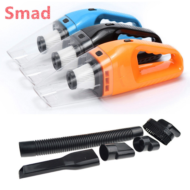 Smad 120W Car Vacuum Cleaner 12V Portable Manual Handheld Wet and Dry Dual Use Car Cleaners Aspirator Dust Accessories philips brl130 satinshave advanced wet and dry electric shaver