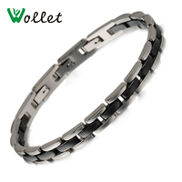 2014 Fashion High Quality Women Stainless Steel Black Ceramic Bracelet