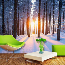 beibehang Custom high quality 3d wallpaper mural winter snow scene sunlight