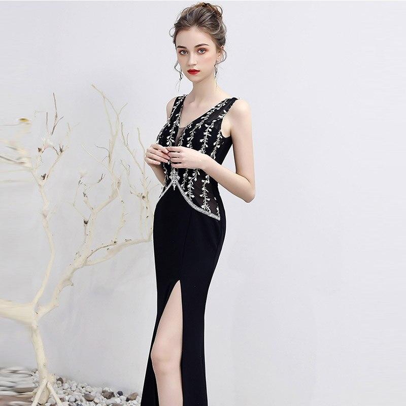 Французская Кружевная Ткань 5yds/pce dhl, черные камни, узор в виде листьев, бархатная ткань для женщин, великолепное элегантное платье, Новое пос... - 3