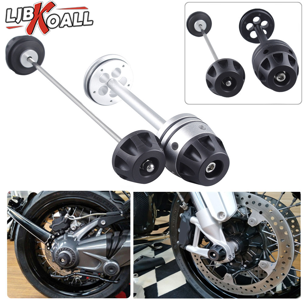 Front & Rear Axle Fork Sliders Crash Protector Guard Wheel Cap For BMW R NineT R1200R 2013 2014 2015 2016 Motorcycle AccessoriesFront & Rear Axle Fork Sliders Crash Protector Guard Wheel Cap For BMW R NineT R1200R 2013 2014 2015 2016 Motorcycle Accessories
