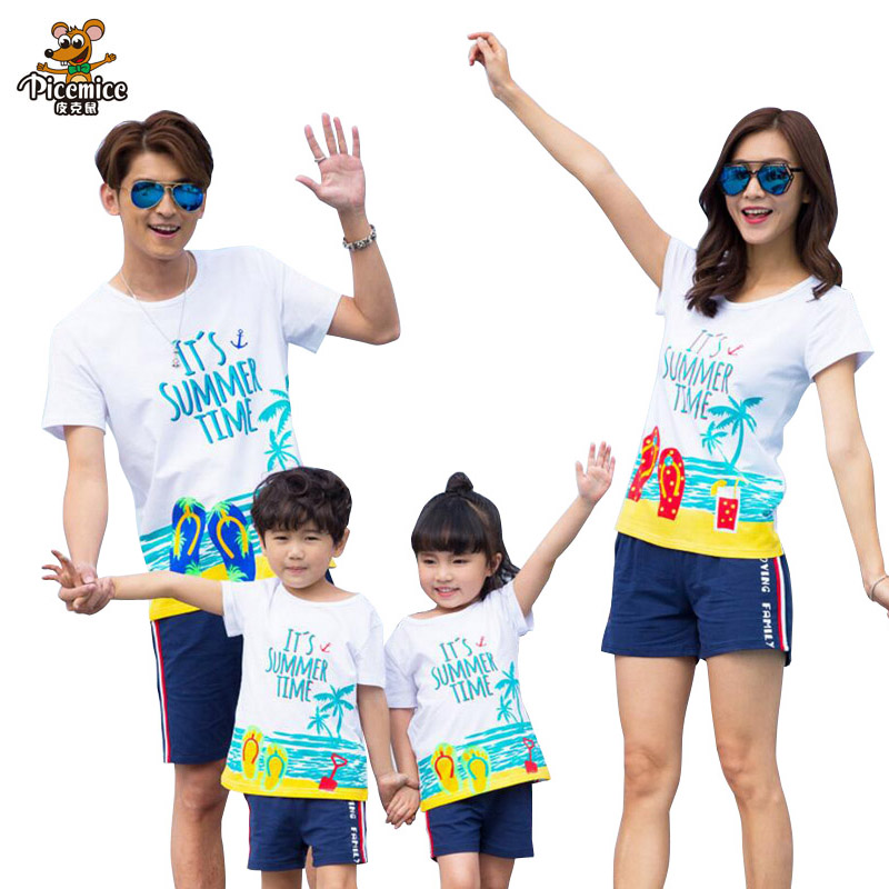 Family Matching Outfits Clothes 2017 Summer Style T shirt ...