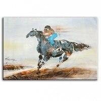 Оригинальная картина маслом скачки художник оригинальный картины украшение картины на заказ картина маслом 16111303
