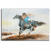 Original oil painting horse racing painter original paintings decoration painting Custom made oil painting 16111303