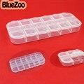 BlueZoo Nuevo 2 unids * 12 Células De Plástico Transparente Caja Vacía Del Arte Del Clavo Del Rhinestone Gems Decoración Herramienta de Maquillaje de Uñas Belleza consejos Accesorios