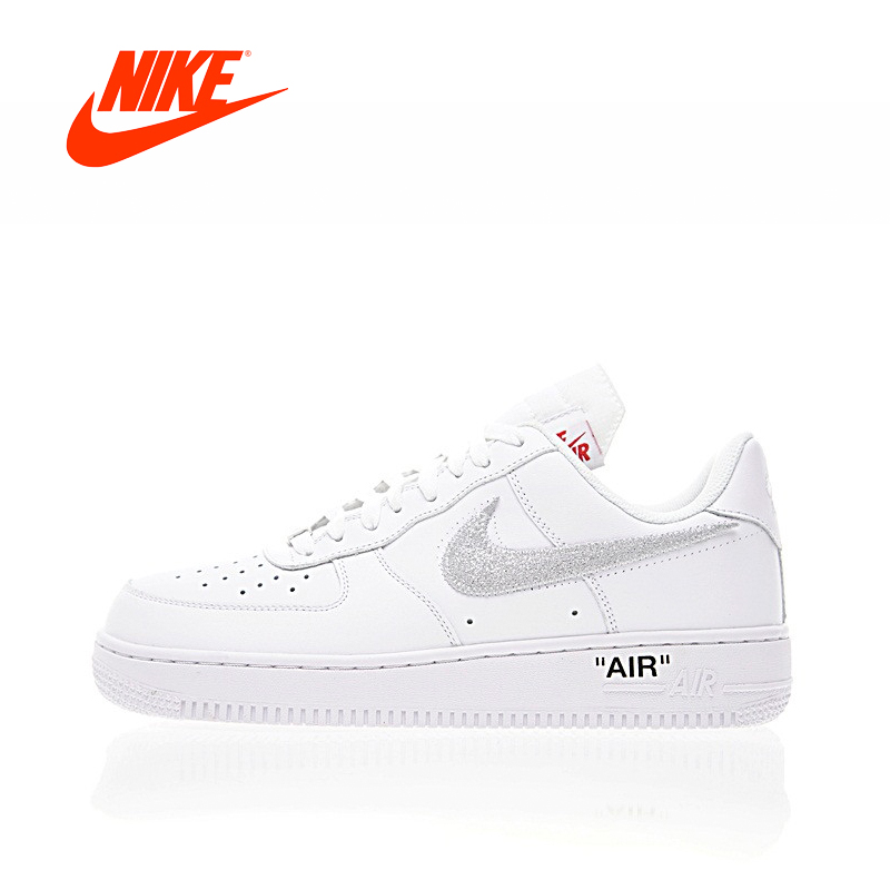 Original New Arrival Authentic OFF-WHITE x Nike Air Force 1 Low Men's Skateboarding Shoes Sport Sneakers Good Quality AA3825-100