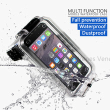 Venes A 30M Waterproof Case Suit For iPhone X 6 i7 Diving Bluetooth Grip Remote Control Phone 4.7/5.5 Inch Cases cover
