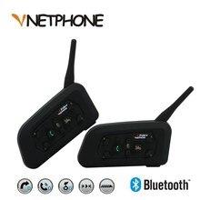 Vnetphone 2x1200 м Bluetooth гарнитура 6 гонщиков громкой связи Водонепроницаемый мотоцикл домофон Поддержка музыке стерео/аудио