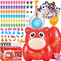 DIY Inflatable Toys Fun Balloon Inflator Creative handmade toy Inflating Machine for Boys Girls Assembled Bobo Sticky toys