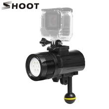 SHOOT Underwater Light Waterproof LED Diving Light for Gopro Hero 5 3 4 Session h9 SJCAM SJ4000 Xiaomi Yi 4K Camera Accessories go pro accessories fill light led flash light spot lamp for xiaomi yi gopro hero 5 4 session 3 3 2 sjcam sj6000 sj5000 camera