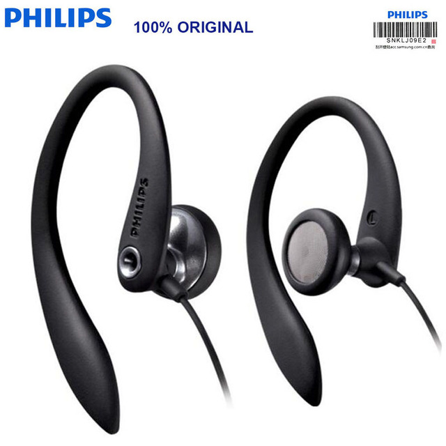 سماعات أذن أصلية من فيليبس SHS3305 نوع سماعات أذن معلقة سماعات رياضية تدعم الهواتف الذكية لهاتف هواوي شياومي