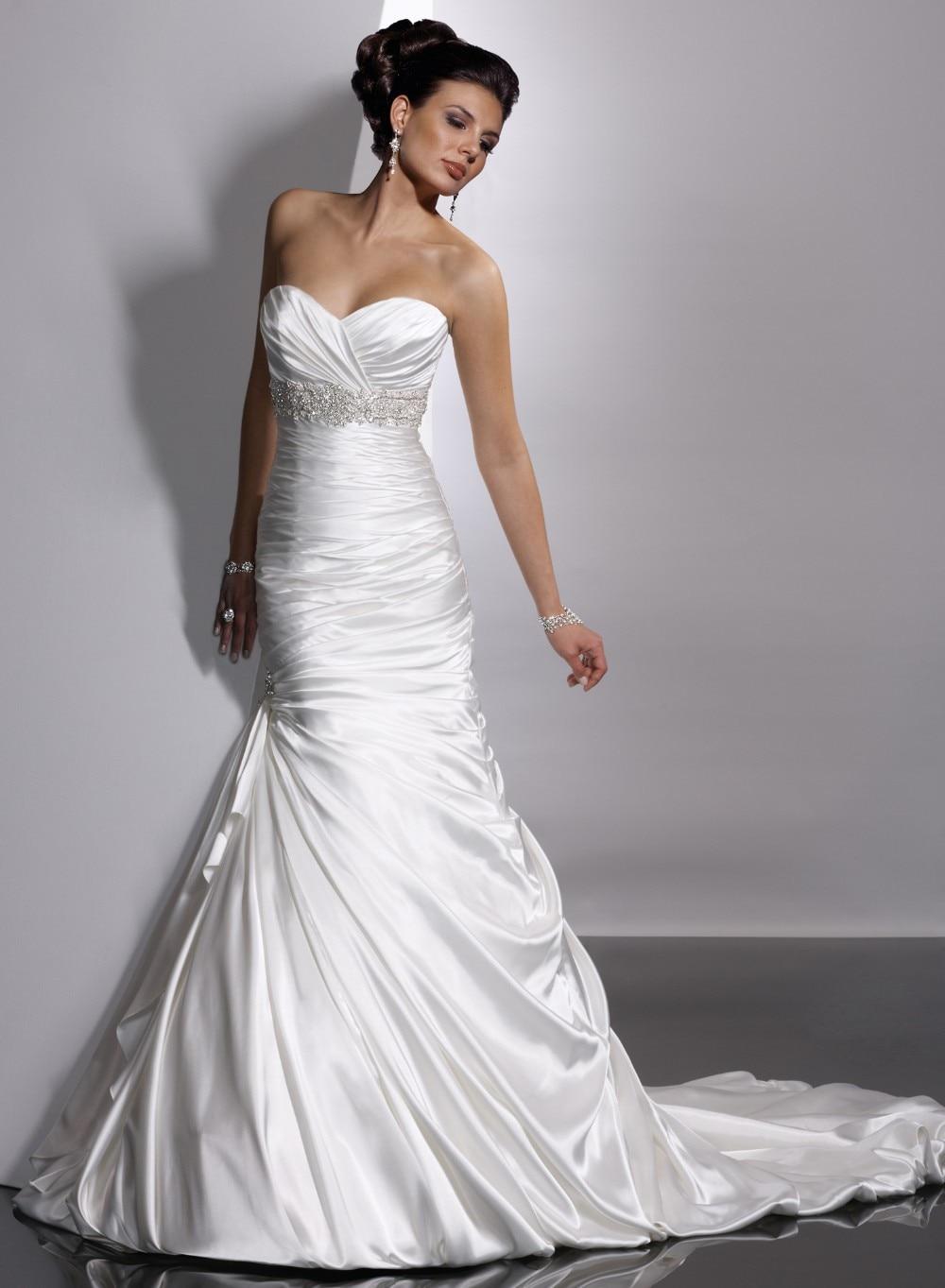 mermaid trumpet satin wedding dress satin mermaid wedding dress Trumpet Wedding Dresses Voguebridal Com