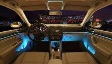 Haoyuehao светодио дный Автомобильный светодиодный холодный свет внутри автомобиля Атмосфера свет полосы клип тип волос свет атмосфера украшения свет 5 м
