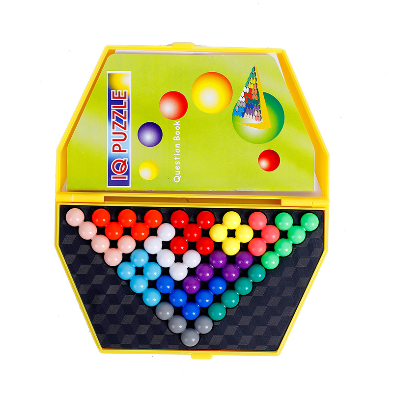 Hot Toys Childrens Development Intelligence Magic Beads Boxed Into Pyramid Color Shape Cognitive Toys