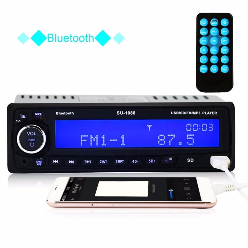 все цены на Bluetooth DC 12V Car Music MP3 Player Audio Decoder Auto WMA Board Module Radio USB TF FM Car MP3 Player with Remote Controller онлайн
