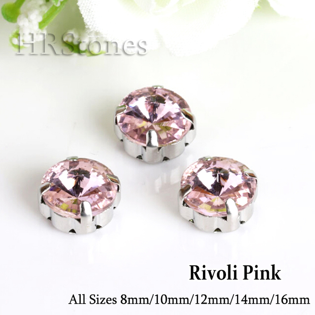 Rivoli Pink Glass Claw Strass Sewing On Rhinestones arts crafts sewing  Crystals Strass For Wedding Bridal 44bc194f37d8