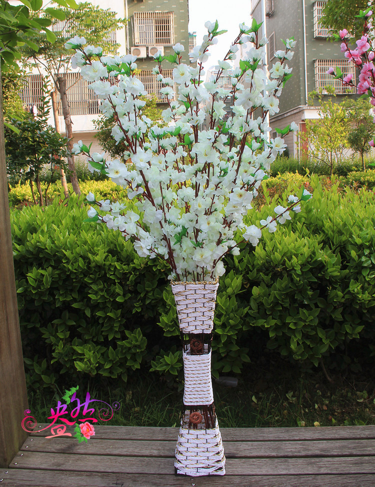 Lule mëndafshi të reja të bukurosheve Degë artificiale bukuroshe - Furnizimet e partisë - Foto 2