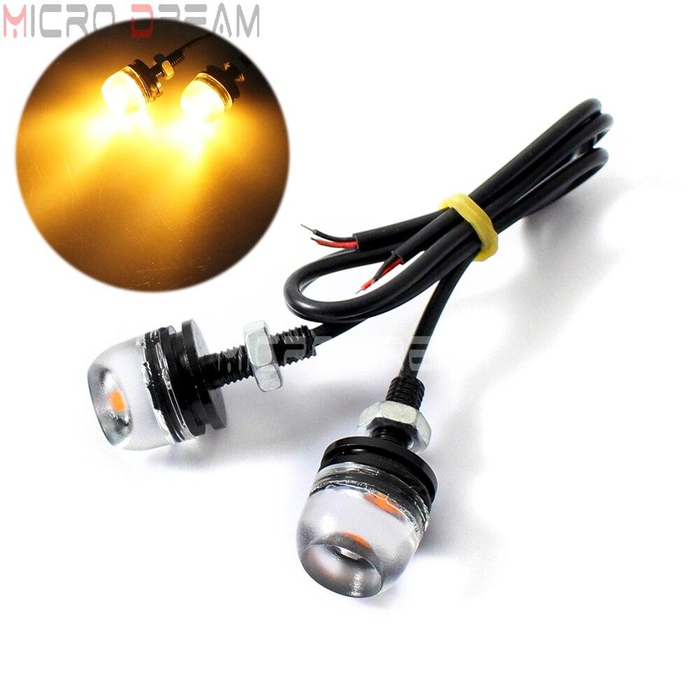 4Pcss Universal Motorcycle SMD LED License Plate Light Screw Bolt Lamp Bulbs UT