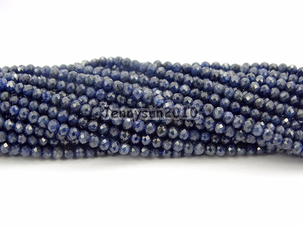 Grade AAA Brilliant Cut Shining Natural AA Blue Sa-pphire Gems Stones 2mm Faceted Round Beads 15 Jewelry Making 2 Strands/PackGrade AAA Brilliant Cut Shining Natural AA Blue Sa-pphire Gems Stones 2mm Faceted Round Beads 15 Jewelry Making 2 Strands/Pack