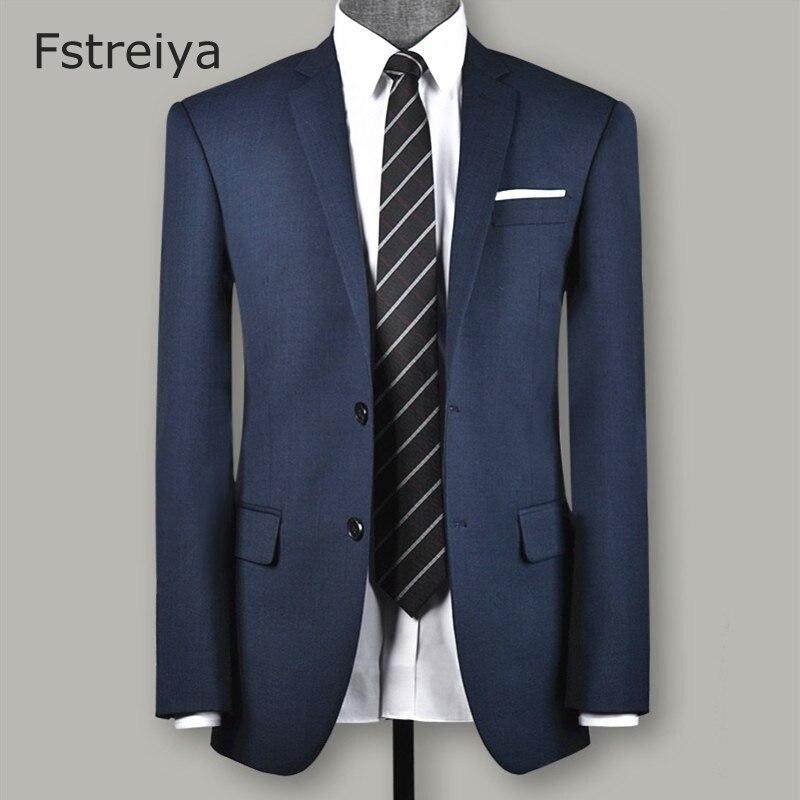 Personnalisé hommes laine vêtements sur mesure hommes marié mariage lepel slim fit costume sur mesure hommes bleu costumes avec pantalon 3 pièces