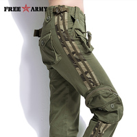 Brand Plus Size Unisex Cargo Pants Casual Jogger Pants Mens Military Army Green Pants Camouflage Sweatpants